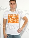 футболка Make some noise белая